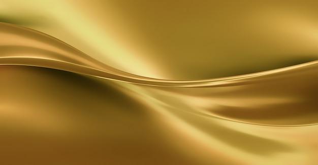 Wellen aus goldener seide als hintergrund