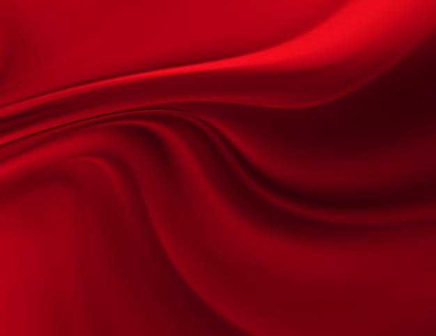 Wellen aus roter seide als hintergrund