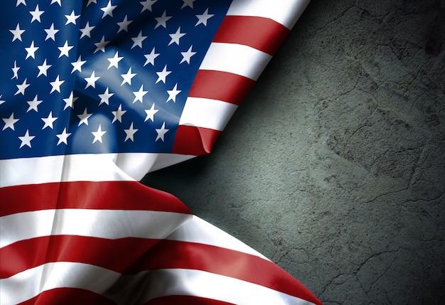 Wellenartig bewegende beschaffenheit der amerikanischen flagge vereinigte staaten von amerika, hintergrund