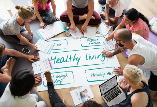 Wellness-diätplan gesundes leben symbol