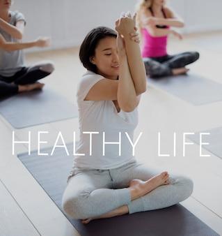 Wellness-gesundheits-wortsatz-mix