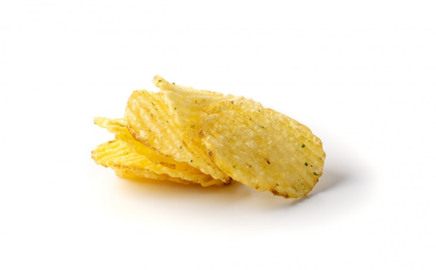 Wellpappenchips, gewellte kartoffelchips, geriffelte chips