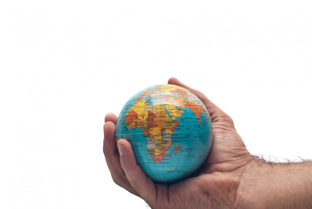 Welt in der hand isoliert