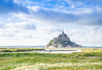 Weltberühmte Touristenattraktion Mont St Michel in Normandie