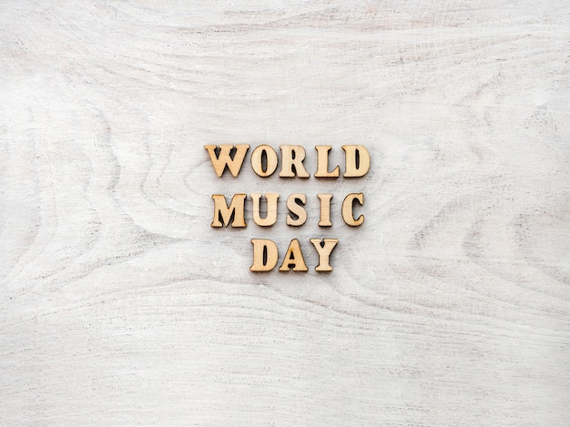 Weltmusiktag. grußkarte. nahansicht