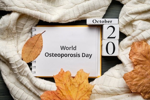 Weltosteoporose tag des herbstmonats kalender oktober.