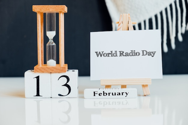 Weltradiotag des wintermonats kalender februar.