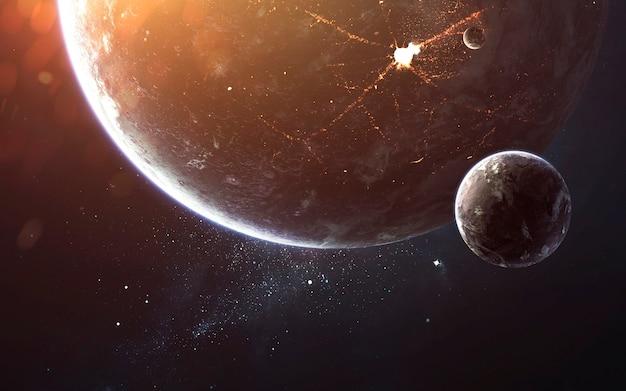 Weltraum, schönheit des endlosen kosmos. science-fiction-tapete. elemente dieses bildes von der nasa geliefert