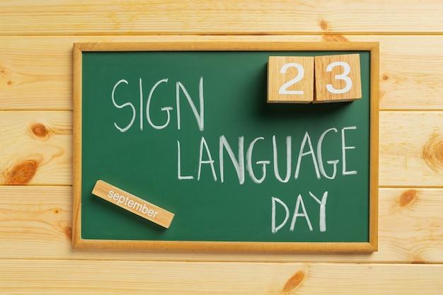 Welttag der gebärdensprache