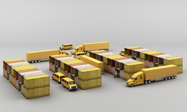 Weltweiter frachtcontainertransport