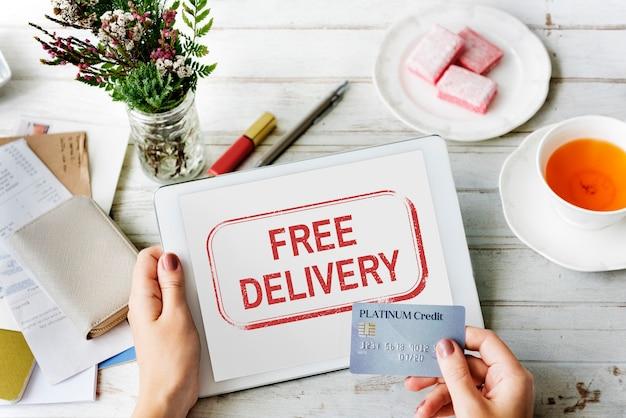 Weltweiter versand lieferung express-grpahic-konzept