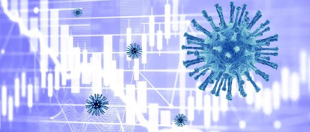 Weltwirtschaft und corona-virus-konzept. die auswirkungen des coronavirus auf die börse.