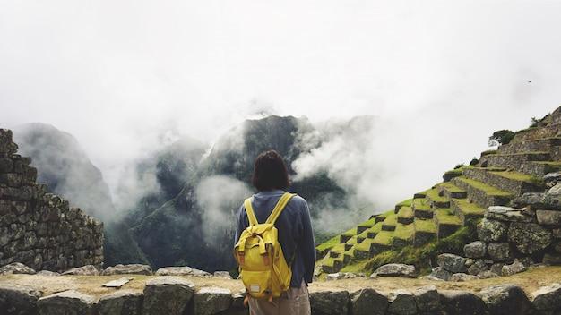 Weltwunder machu picchu und anden-berge