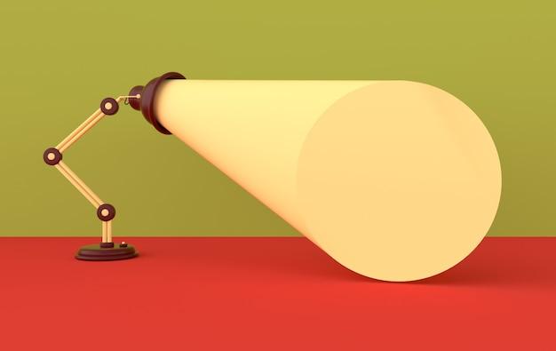 Werbeplakat mit lampenlicht