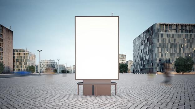Werbeplakat-modell