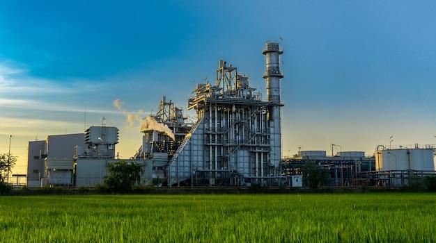 Werk der öl- und gasraffinerieindustrie