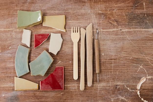 Werkzeuge für das keramikdesign