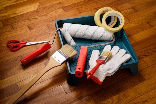 Werkzeuge für die innenanstrich