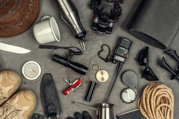 Werkzeuge für wanderausrüstung
