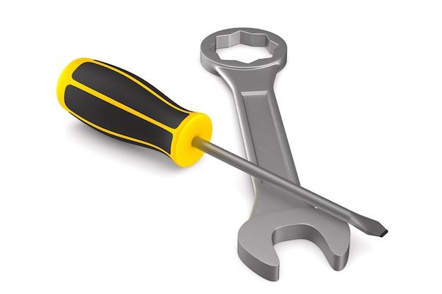 Werkzeuge. isoliertes 3d-rendering
