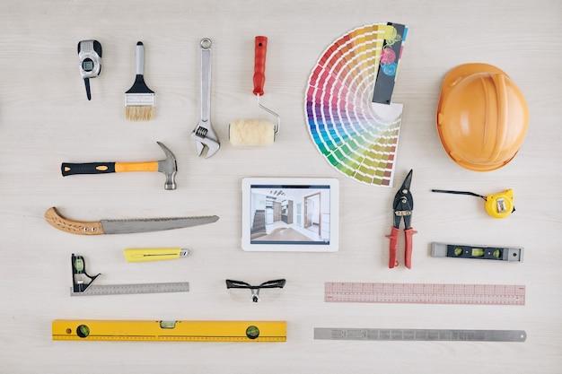 Werkzeuge zur raumrenovierung