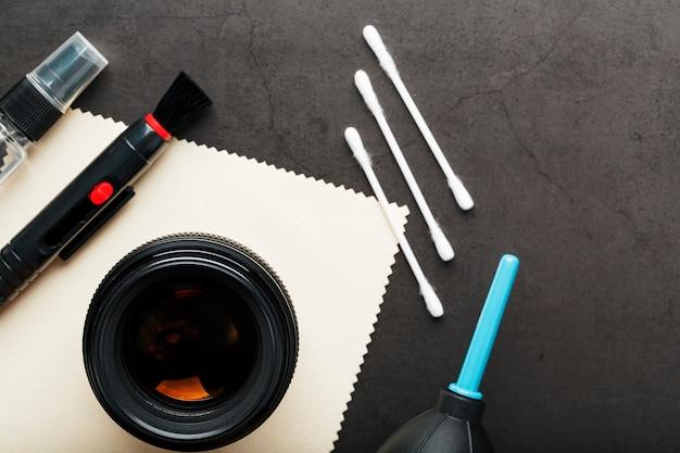 Werkzeugset zur pflege ihrer kameraobjektive