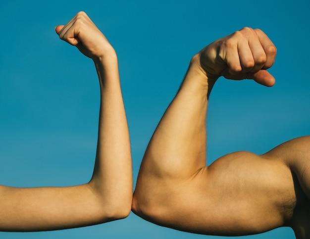 Wettbewerb, stärkevergleich. kämpfe hart. gesundheitskonzept.
