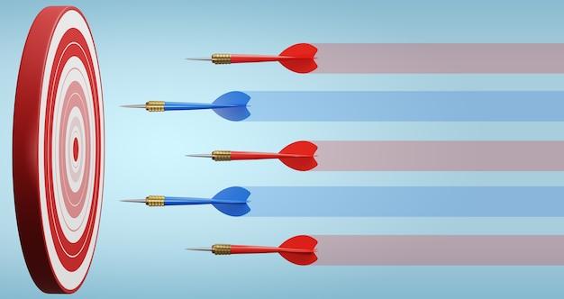 Wettbewerbsvorteil, strategisches konzept. 3d-illustration