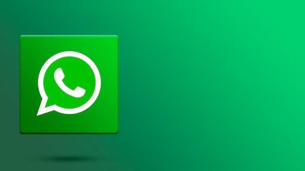 Whatsapp-logo auf 3d-plattform