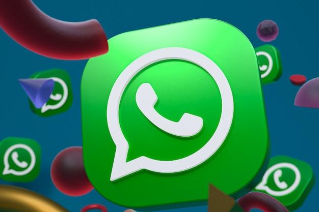 Whatsapp-logo auf abstrakter geometrie