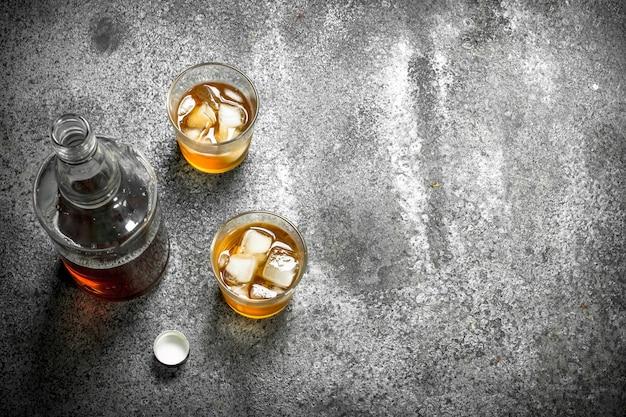 Whisky mit eis.