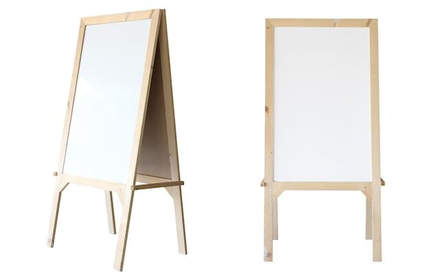 Whiteboard-isolat auf weißem hintergrund.