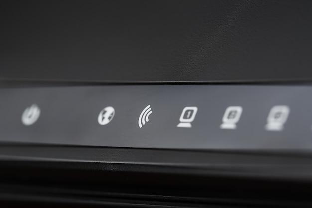 Wi-fi-router-anzeigesymbole für die makrosteuerung