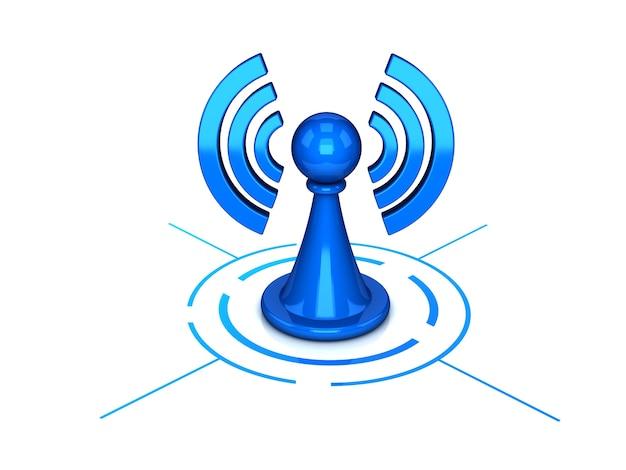 Wi-fi-symbol isoliert auf weiß für netzwerk-anwendungen