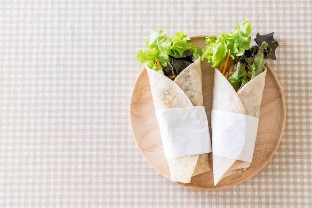 Wickeln salat rollen