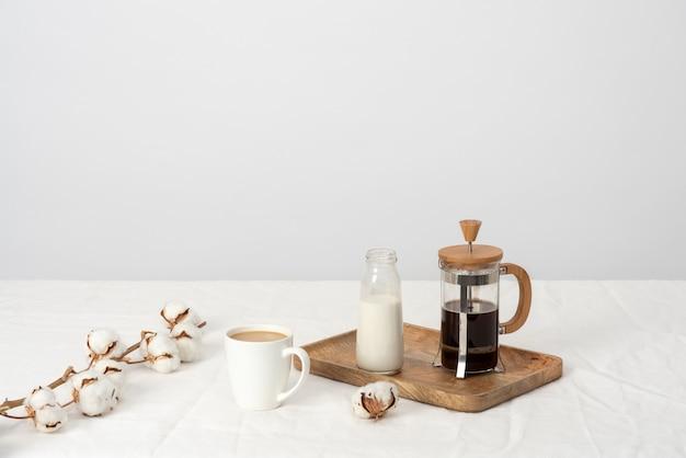 Wie wäre es mit kaffee mit milch?