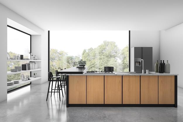 Wiedergabe 3d der modernen luxusküche