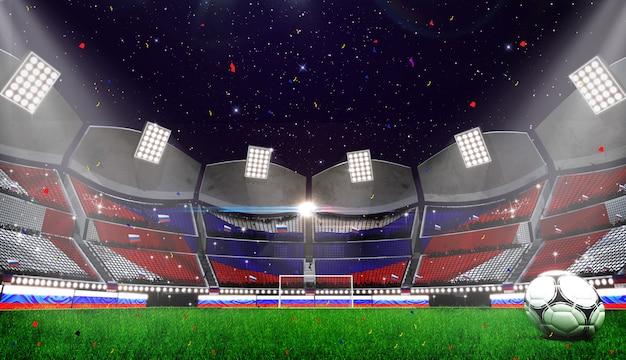 Wiedergabe 3d des stadionshintergrundes