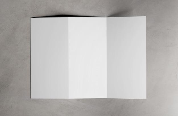 Wiedergabe der dreifachgefalteten broschüre 3d
