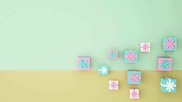 Wiedergabe der geschenkbox-grafik 3d - illustration
