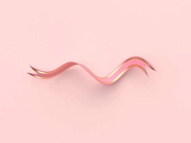 Wiedergabe des rosagoldbandzusammenfassungs-dekorationskonzeptes 3d