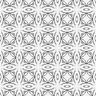 Wiederholte gestreifte handgezeichnete grenze. boho-chic-sommerdesign in schwarz und weiß. textilfertiger hübscher druck, bademodenstoff, tapete, verpackung. gestreiftes handgezeichnetes design.