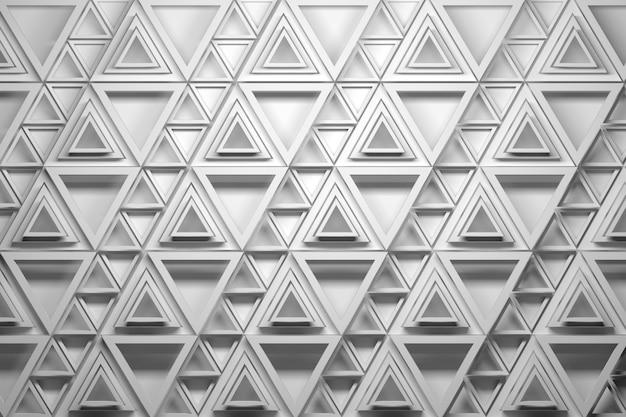 Wiederholtes dreiecksmuster in schwarz-weiß-farben