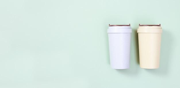 Wiederverwendbare öko-kaffeetasse