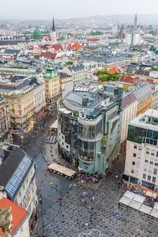 Wiener stadtbild vom turm des doms