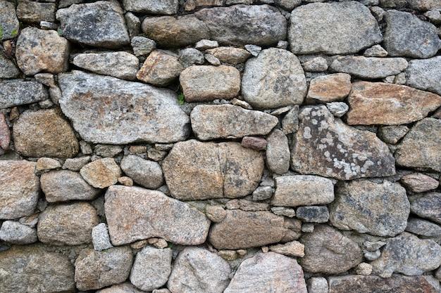 Wilder steinmauerhintergrund des alten schlosses
