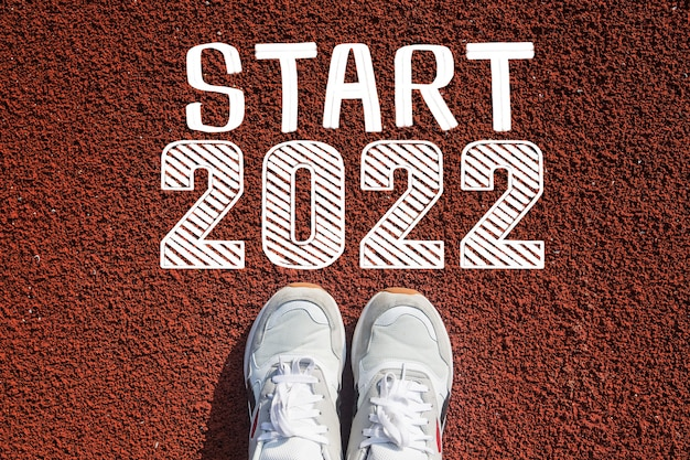 Willkommen zum konzept für ein frohes neues jahr 2022