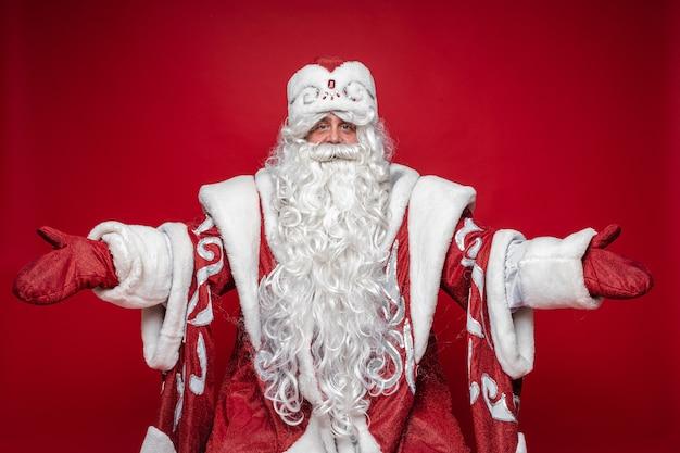 Willkommensgeste des weihnachtsmannes