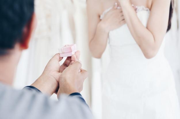 Willst du mich geerntet heiraten?