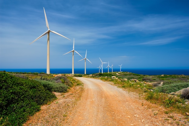 Windgenerator turbinen kreta insel griechenland
